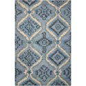 "Nourison Tahoe Modern 3'9"" x 5'9"" Denim Blue Rectangle Rug - Item Number: MTA06 DENBL 39X59"