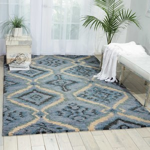 "Nourison Tahoe Modern 8'6"" x 11'6"" Denim Blue Rectangle Rug"