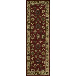 "Nourison Tahoe 2'3"" x 8' Red Area Rug"