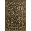 "Nourison Tahoe 3'9"" x 5'9"" Charcoal Area Rug - Item Number: 33721"