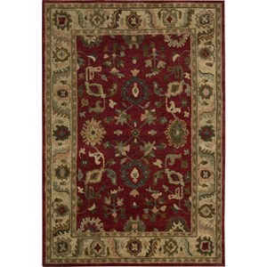 "Nourison Tahoe 5'6"" x 8'6"" Red Area Rug"