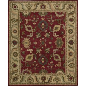 "Nourison Tahoe 7'9"" x 9'9"" Red Area Rug"