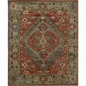 "Nourison Tahoe 3'9"" x 5'9"" Rust Area Rug - Item Number: 68918"
