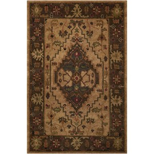 "Nourison Tahoe 7'9"" x 9'9"" Beige Rectangle Rug"