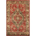 "Nourison Tahoe 8'6"" x 11'6"" Rust Rectangle Rug - Item Number: TA01 RUS 86X116"