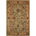 """Nourison Tahoe 5'6"""" x 8'6"""" Green Rectangle Rug - Item Number: TA03 GRE 56X86"""