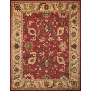 "Nourison Tahoe 8'6"" x 11'6"" Red Rectangle Rug"