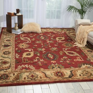 "Nourison Tahoe 9'9"" x 13'9"" Red Rectangle Rug"