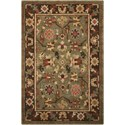 "Nourison Tahoe 5'6"" x 8'6"" Green Rectangle Rug - Item Number: TA10 GRE 56X86"