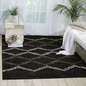 Nourison Tangier 5' x 7' Black Rectangle Rug