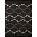Nourison Tangier 5' x 7' Black Rectangle Rug - Item Number: TAN01 BLK 5X7