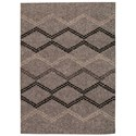 Nourison Tangier 5' x 7' Silver Rectangle Rug - Item Number: TAN01 SIL 5X7