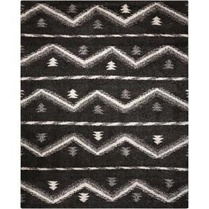 5' x 7' Black Rectangle Rug