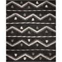 Nourison Tangier 8' x 10' Black Rectangle Rug - Item Number: TAN04 BLK 8X10