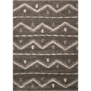 Nourison Tangier 5' x 7' Grey Rectangle Rug