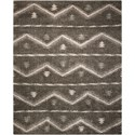 Nourison Tangier 8' x 10' Grey Rectangle Rug - Item Number: TAN04 GRY 8X10