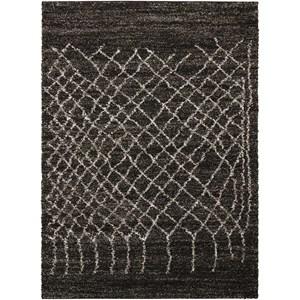 8' x 10' Black Rectangle Rug