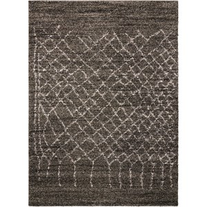 Nourison Tangier 5' x 7' Charcoal Rectangle Rug