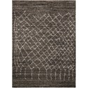 Nourison Tangier 8' x 10' Charcoal Rectangle Rug - Item Number: TAN05 CHA 8X10