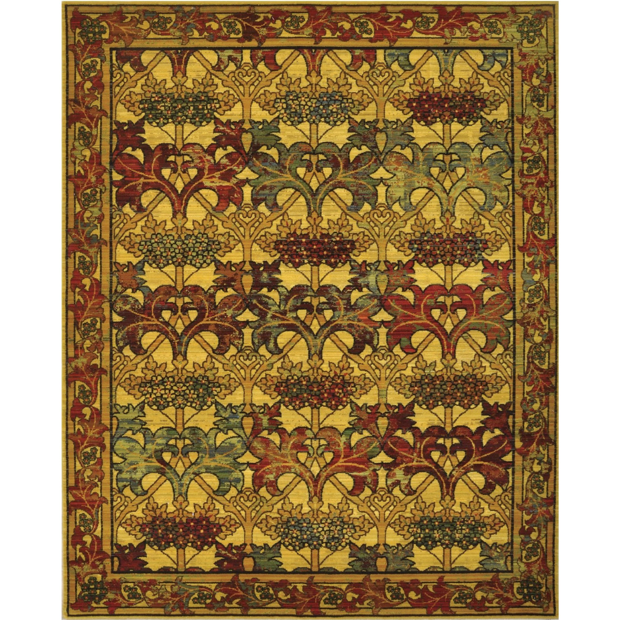 """Nourison Timeless 8'6"""" x 11'6"""" Stained Glass Area Rug - Item Number: 20996"""