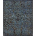 "Nourison Timeless 5'6"" x 8' Peacock Area Rug - Item Number: 21020"