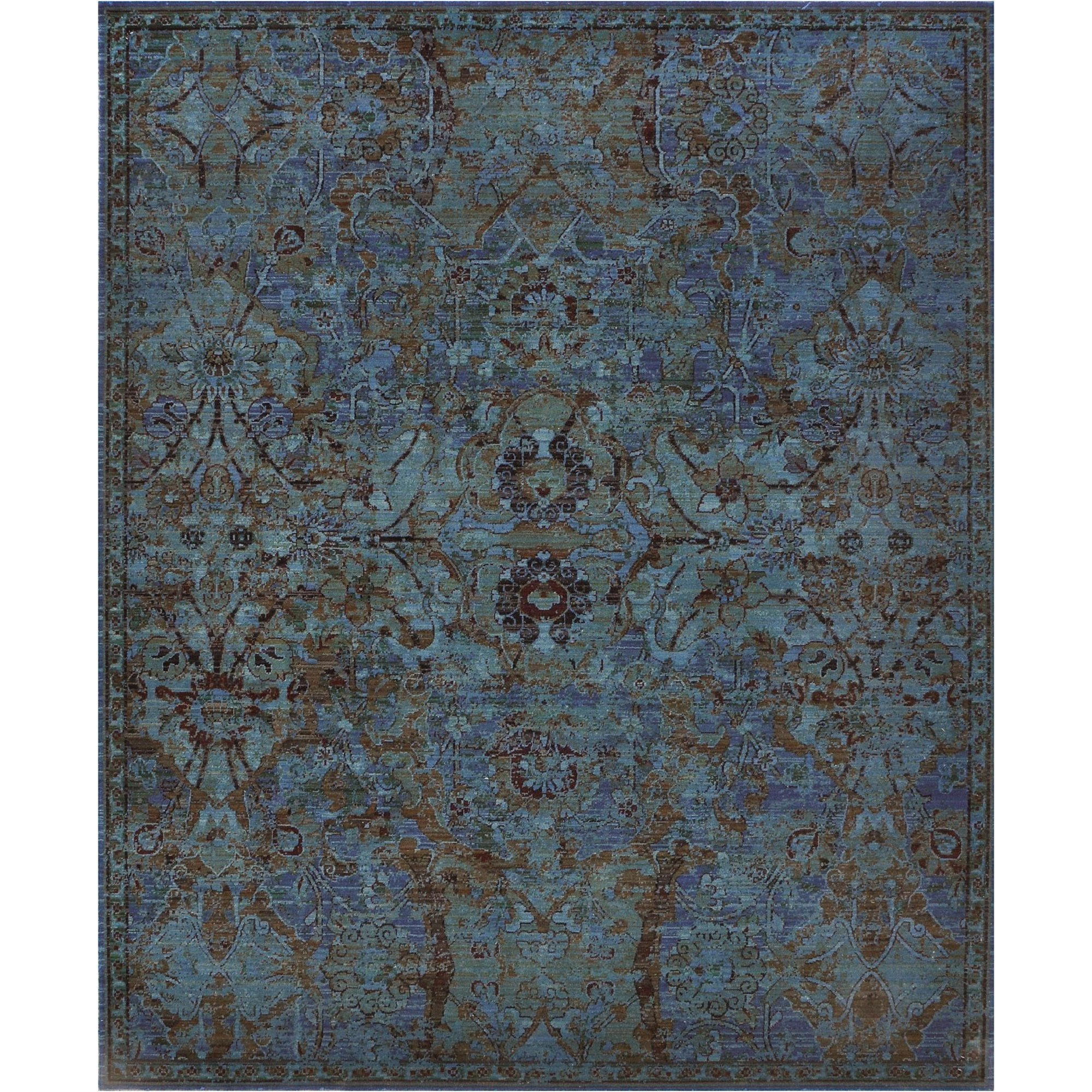 "Nourison Timeless 9'9"" x 13' Peacock Area Rug - Item Number: 21025"
