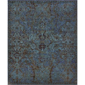 "Nourison Timeless 9'9"" x 13' Peacock Area Rug"