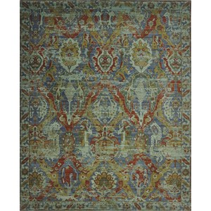 "Nourison Timeless 9'9"" x 13' Turquoise Area Rug"