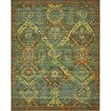 "Nourison Timeless 5'6"" x 8' Seaglass Area Rug - Item Number: 21087"