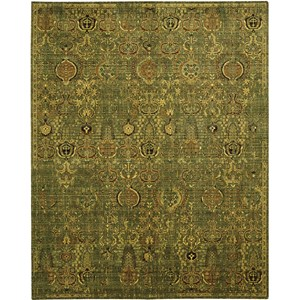 "Nourison Timeless 8'6"" x 11'6"" Green Gold Area Rug"