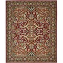 "Nourison Timeless 7'9"" x 9'9"" Red Area Rug - Item Number: 27413"