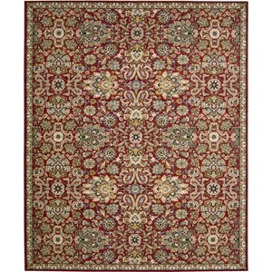 "Nourison Timeless 9'9"" x 13' Red Area Rug"