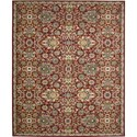 "Nourison Timeless 5'6"" x 8' Red Area Rug - Item Number: 27424"