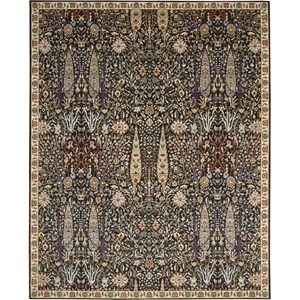"Nourison Timeless 8'6"" x 11'6"" Navy Area Rug"