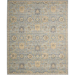 "Nourison Timeless 9'9"" x 13' Light Blue Area Rug"