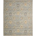 "Nourison Timeless 5'6"" x 8' Light Blue Area Rug - Item Number: 27432"