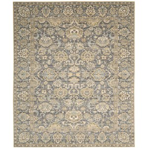 "Nourison Timeless 9'9"" x 13' Opal Grey Area Rug"