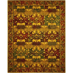 """7'9"""" x 9'9"""" Stained Glass Rectangle Rug"""