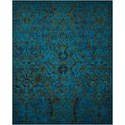 "Nourison Timeless 9'9"" x 13' Peacock Rectangle Rug - Item Number: TML02 PEACO 99X13"