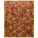 "Nourison Timeless 5'6"" x 8' Pomegranate Rectangle Rug - Item Number: TML05 POMEG 56X8"