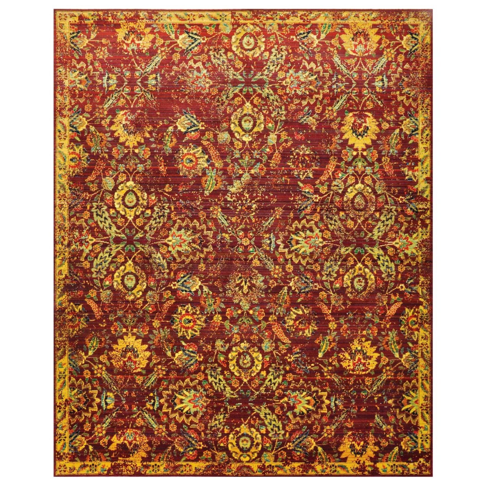 "8'6"" x 11'6"" Pomegranate Rectangle Rug"