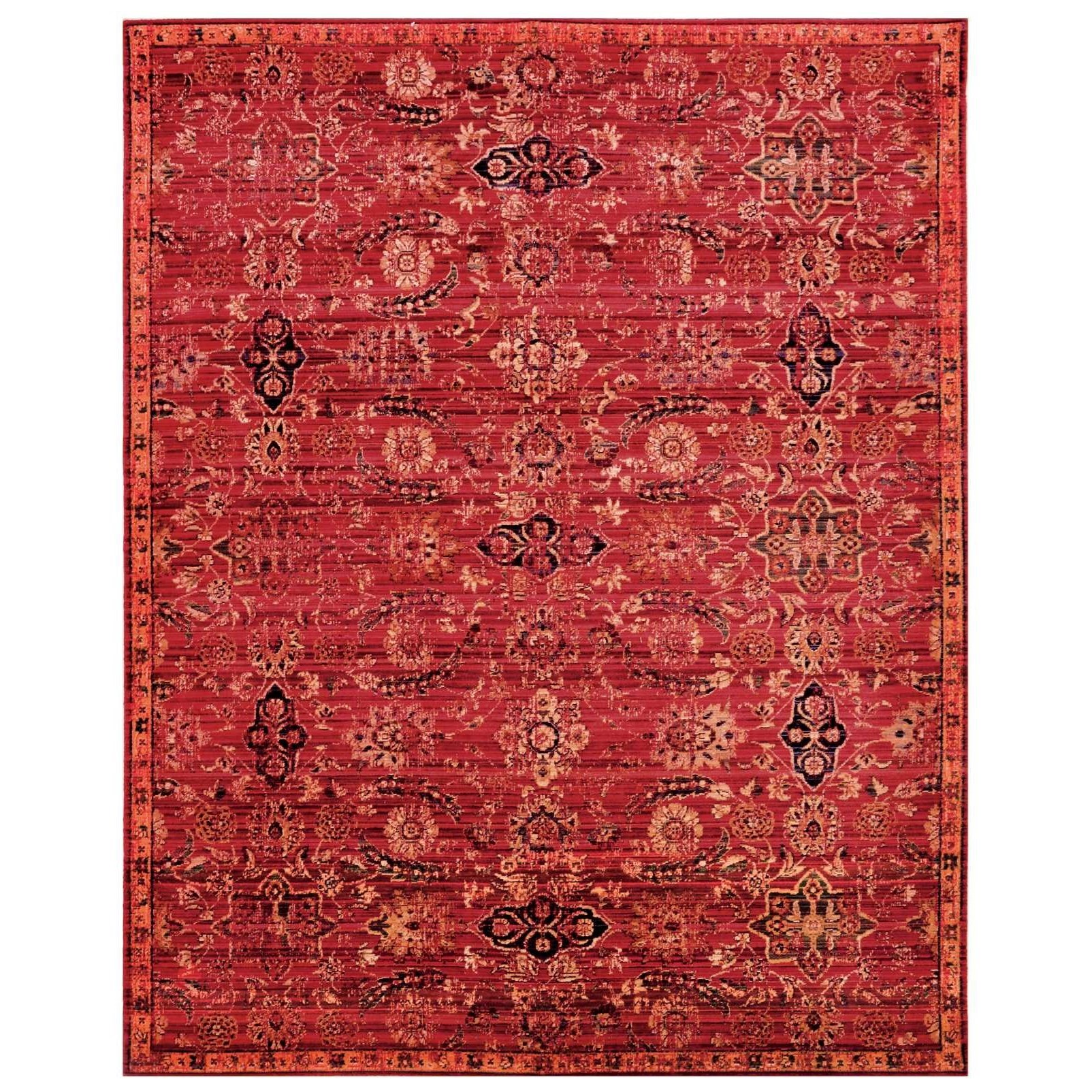 """8'6"""" x 11'6"""" Red Rectangle Rug"""