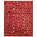 """Nourison Timeless 9'9"""" x 13' Red Rectangle Rug - Item Number: TML07 RED 99X13"""