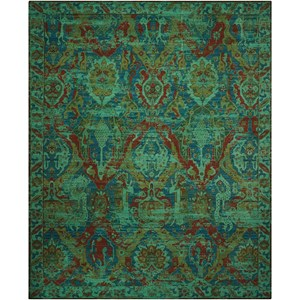 "Nourison Timeless 9'9"" x 13' Turquoise Rectangle Rug"