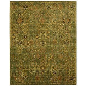 "Nourison Timeless 7'9"" x 9'9"" Green Gold Rectangle Rug"