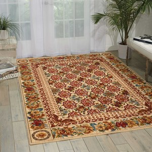 "Nourison Timeless 5'6"" x 8' Multicolor Rectangle Rug"