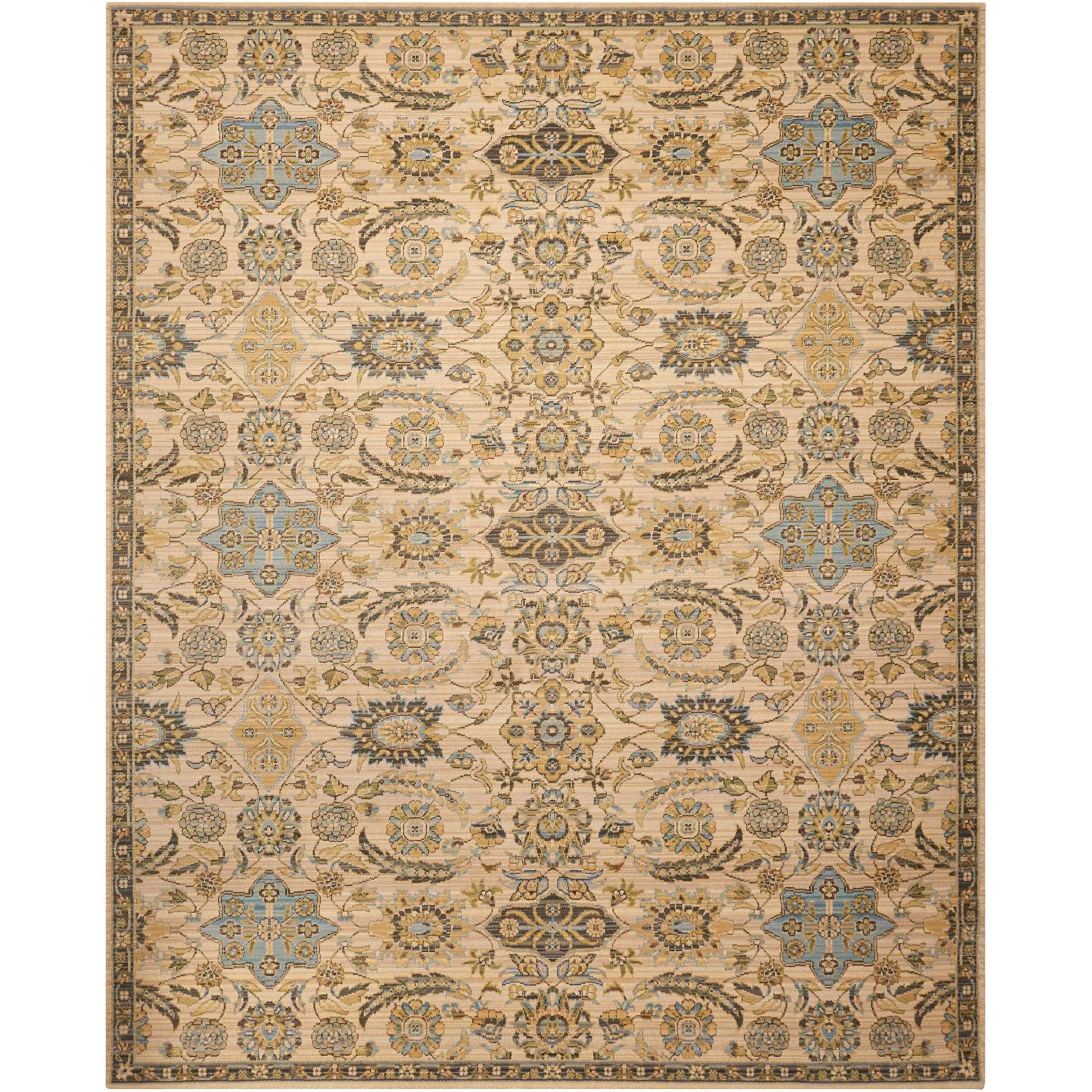 "Nourison Timeless 7'9"" x 9'9"" Beige Rectangle Rug - Item Number: TML14 BGE 79X99"