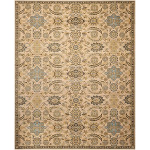 "Nourison Timeless 7'9"" x 9'9"" Beige Rectangle Rug"