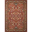 "Nourison Timeless 5'6"" x 8' Red Rectangle Rug - Item Number: TML15 RED 56X8"