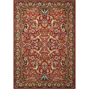 """9'9"""" x 13' Red Rectangle Rug"""